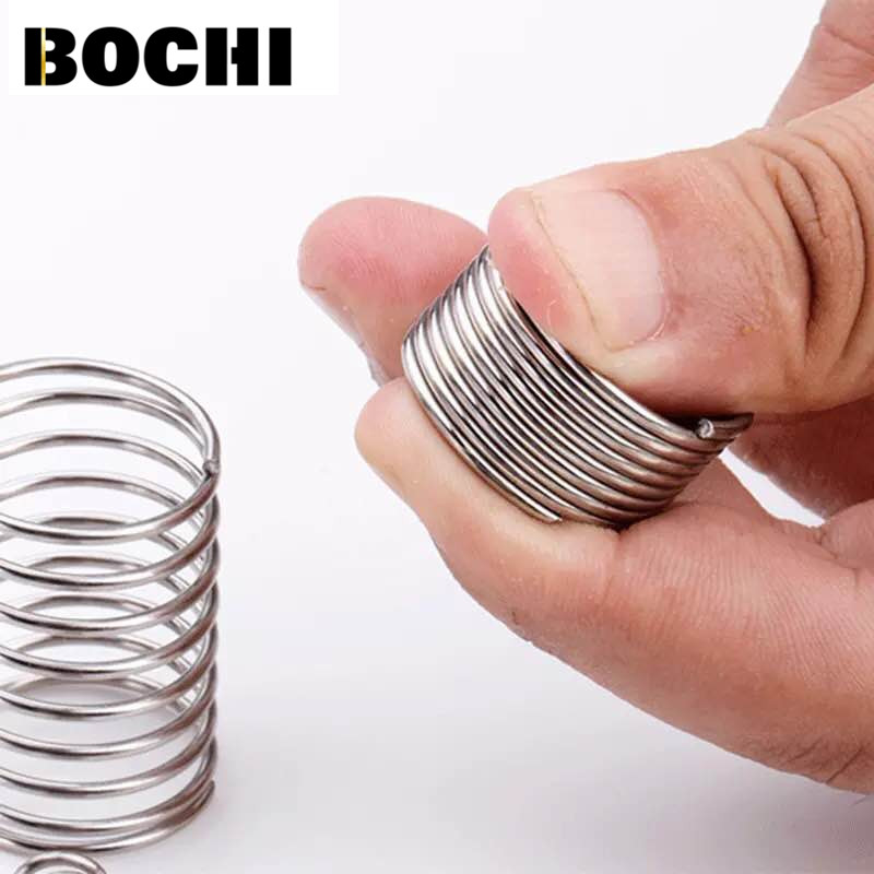 Free Shipping 10PCS Wire Diameter0.3/0.4/0.5/0.6/0.7/0.8/1.0/1.2mm  304 Stainless Steel Feeder Spring