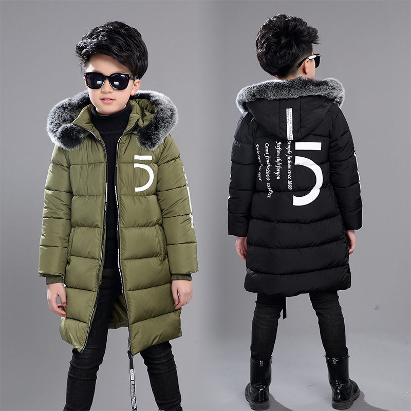 47e5d1103b7 Купить 12 детская одежда 13 мальчиков 14 зимняя одежда 15 куртка 2018 новый  толстый хлопок утолщение 10 лет детей до 30 градусов Цена Дешево.