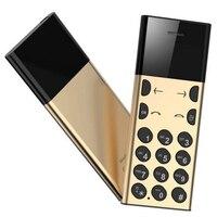 Yeni Kart Telefon Metal Tasarım Çocuk Yaşlı Adam Için Düşük Radyasyon MP3 Çalar Bluetooth Dialer cep cep telefonu