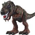 O envio gratuito de brinquedo Elétrico de grande porte andando dinossauro Tiranossauro Rex robô Com Luz e Som brinquedos infantis 1 pcs