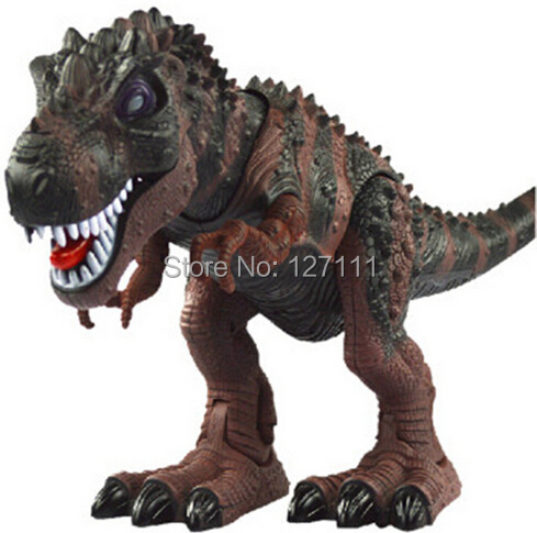 Free Shipping Electric Toy Large Size Walking Dinosaur Robot With Light Sound Tyrannosaurus Rex  Kids Toys 1pcs