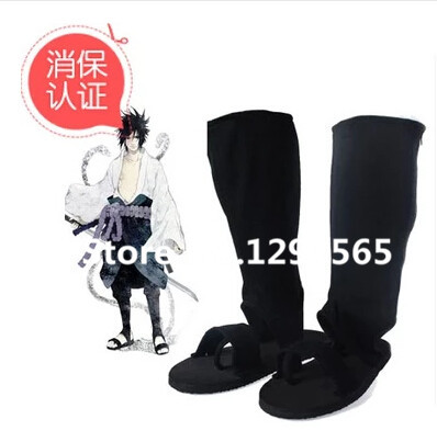 Naruto Shoes Naruto Cosplay Uchiha Sasuke Orochimaru Type Black Cosplay Shoes