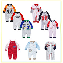 Model summer time spring Child Romper Lengthy Sleeves 100% Cotton Child Pajamas Cartoon Printed New child Child Women Boys Garments