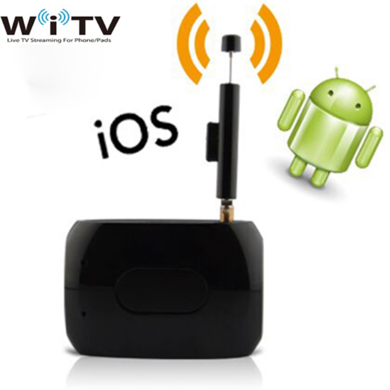 Mini Pad Phone Digital TV Tuner HD Wirelss WiFi Satellite TV Receiver Live TV Link Stick DVB-T ISDB-T For For Android iOS Dongle