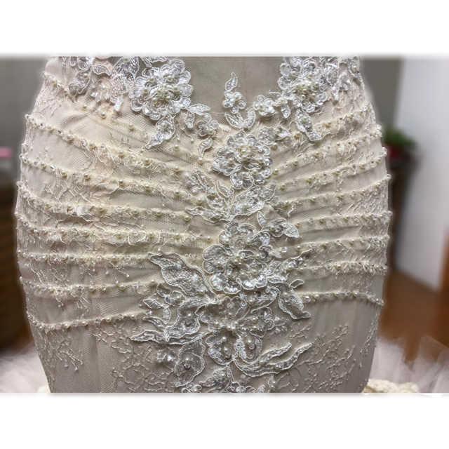 Экстравагантное белое кружевное Русалка отделка бисером свадебное пдатье с вырезом на спине с часовней Свадебные платья на Прокат принцесса свадебное платье 2018