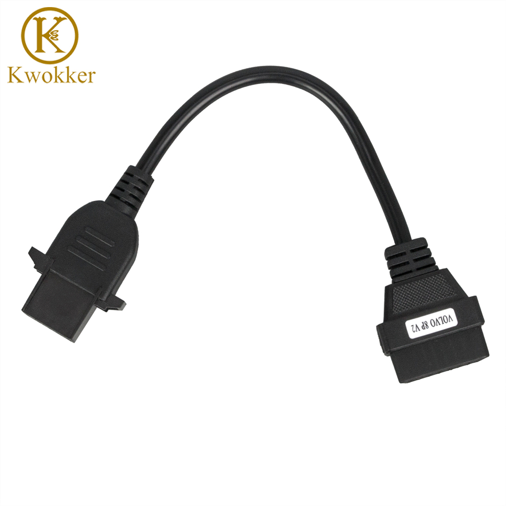 Car OBD2 Auto Cable Truck Cable For VOLVO-8P 16 Pin To 8 Pin Cable Volvo 8-pin Adapter Cable Truck For Volvo 8pin To 16pin