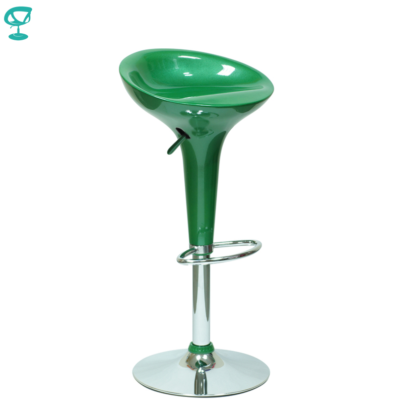 94388 Barneo N-100 Plastic High Kitchen Breakfast Bar Stool Swivel Bar Chair Green Free Shipping In Russia