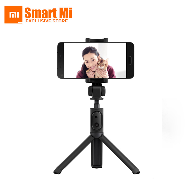 Xiaomi Original Foldable Handheld Tripod Selfie Stick Monopod Selfiestick Bluetooth With Wireless Shutter For Android & iPhone