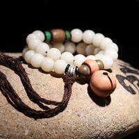 Handmade Beads Bracelet Tibetan Palm Seeds Beaded Bracelet Natural Wood Beads Mala Bracelet