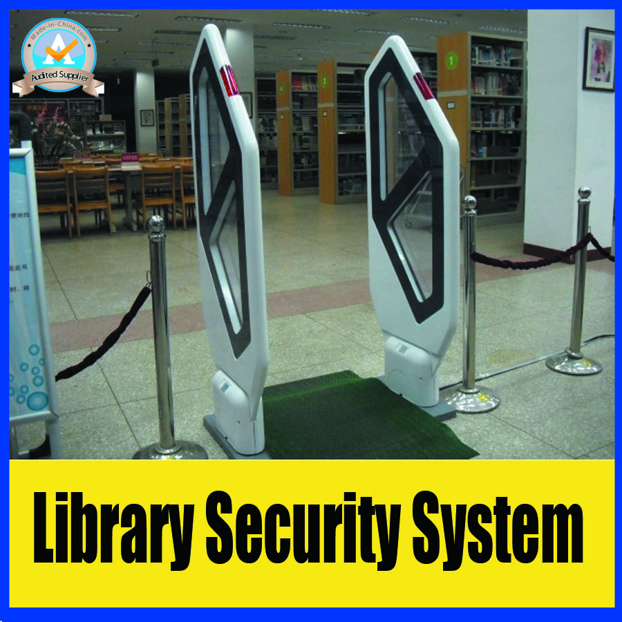 EM technology acrylic anti theft system for library,university library security alarm system,2 door and 1 machine factory price hzsecurity electromagnetic system em library anti theft system one aisle