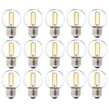12V - 24V DC AC 1W E27 LED COB Filament Light Bulb G40 Warm