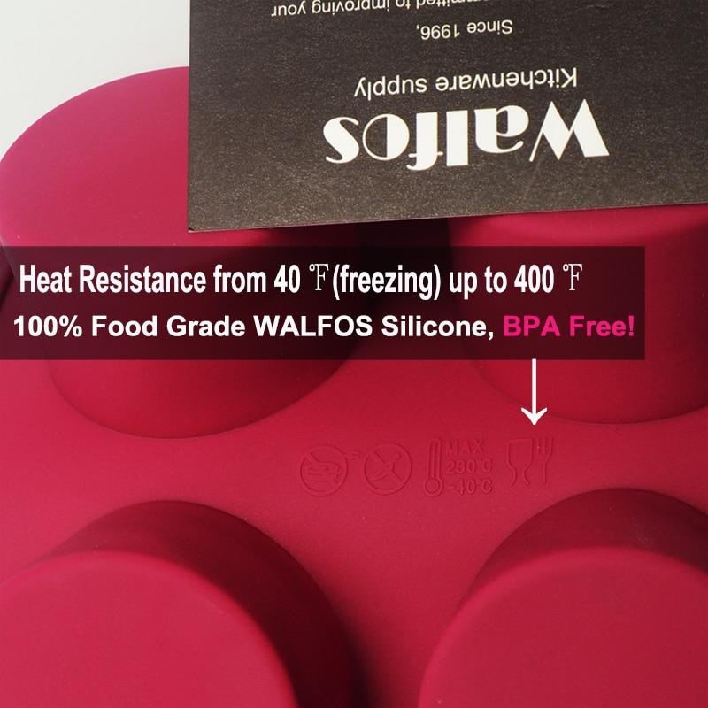 WALFOS 3D əl istehsalı Dəyirmi Şəkilli Silikon Tort Kalıp - Mətbəx, yemək otağı və barı - Fotoqrafiya 4