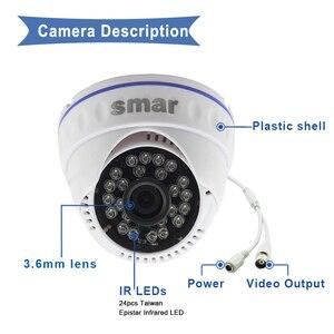 Image 3 - Sistema de videovigilancia DVR híbrido, CCTV, 4 canales, 720P, 1080P, juego de cámara AHD de día y noche, Kit de cámara domo VGA, HDMI, salida de plástico