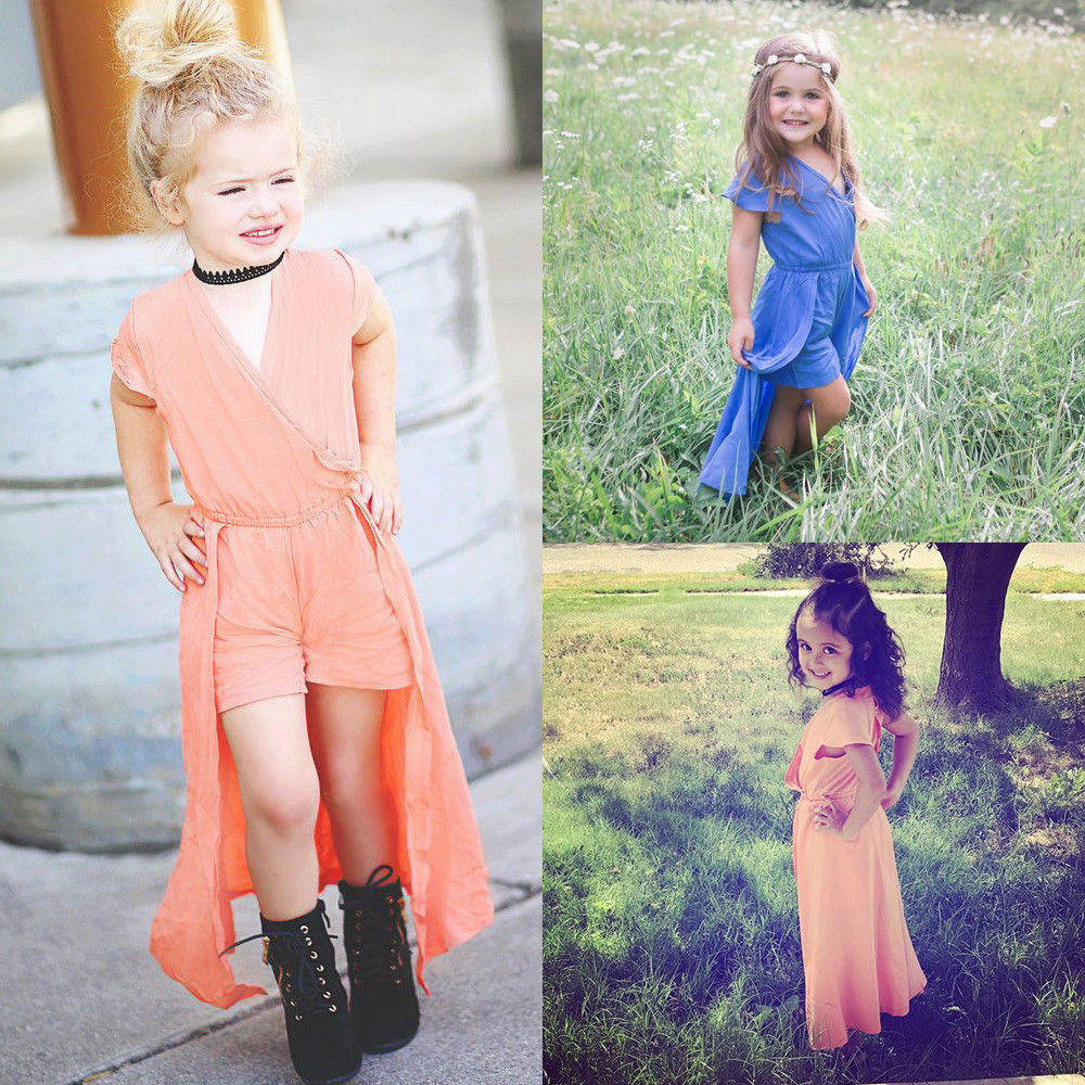 Pageant Flower Girl Dress Kids Wedding Bridesmaid Gown Formal Dresses Clothes