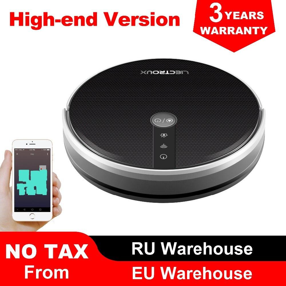 LIECTROUX C30B Roboter Staubsauger, Karte navigation mit Speicher, Wifi APP Control, 3000pa Saug Power, smart Elektrische Wasser tank,