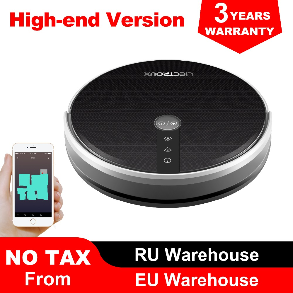 LIECTROUX C30B Robot Vacuum Cleaner, Map Navigation With Memory,Wifi APP Control,3000pa Suction Power,Smart Electric Water Tank,