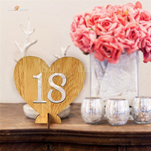 1-20 Table Numbers Rack Wood Wedding Table Number Holder Party Direction Signs Supplies Event Party Rustic Wedding Decoration 10pcs rustic table numbers wooden name place cards holders rack wedding party direction signs shabby chic number home decoration