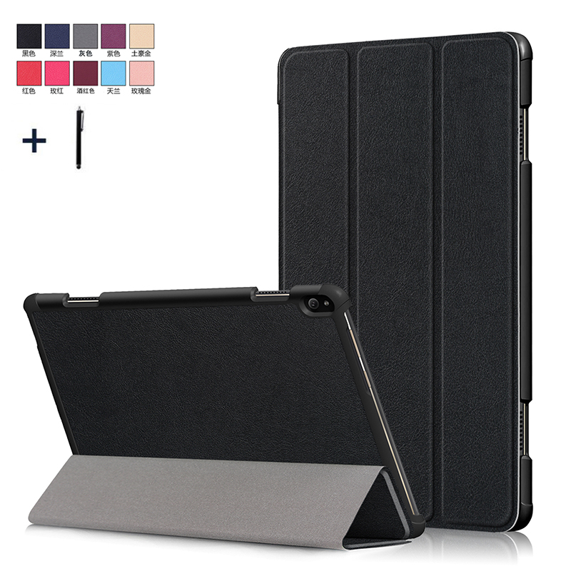 For Lenovo Tab P10 TB X705F TB X705L 10.1'' Case Cover For Lenovo Tab P10 Smart Magnet PU Flip Leather Capa Funda Coque+Stylus Tablets & e-Books Case     - title=