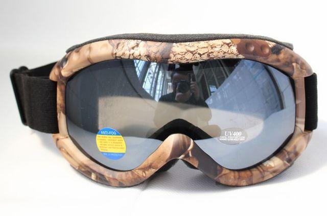 1e98dce57cd Free Shipping Double PC Black Lens Polarized Anti Fog Windproof Hunting  Camouflage Ski Goggles UV brand