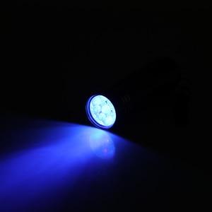 Image 2 - 자외선 토치 램프 슈퍼 미니 9 LED 손전등 블랙 자외선 슈퍼 미니 알루미늄 자외선 토치 램프