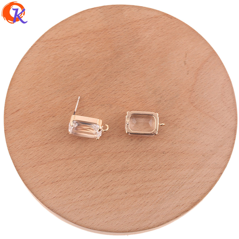 Cordial Design 30Pcs 10*17MM Jewelry Accessories/DIY Making/Crystal Earrings Stud/Silver Needle/Hand Made/Earring Findings