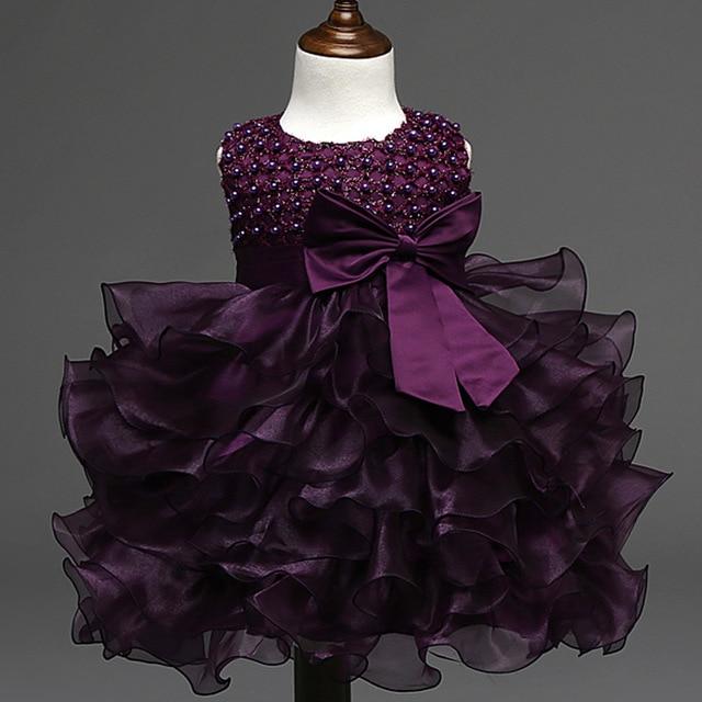 Aliexpress.com : Buy 2018 New Brand Lace Baby Girl beading bow Dress ...