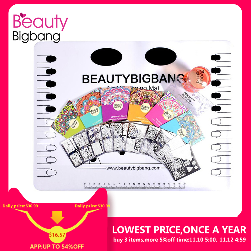 BeautyBigBang 10PCS Nail Stamping Plates Set New 2018 Summer Halloween pattern Nail Design Nail Art Stamp For Nails Template set beautybigbang 5pcs nail stamping plates rectangle nail stamping plates summer flower nail template nail art stamping