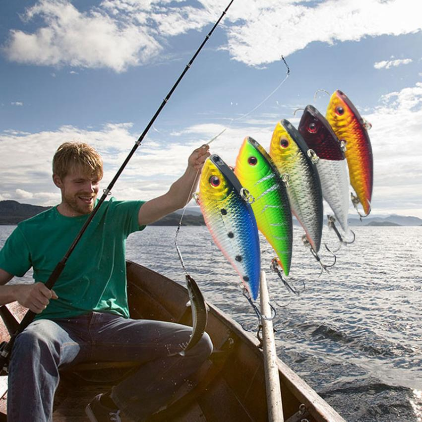 2017 NEW fishing pesca 5pcFishing Bait With Guiding Lead Fish Sea FishingTackle Swivel Jig Wobbler Bait SEPTEMBER21