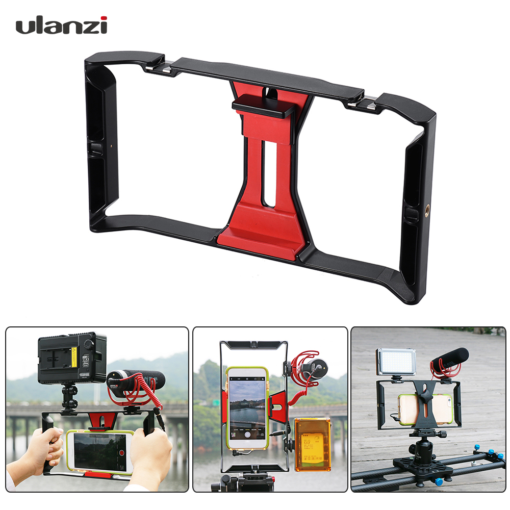 DIGITALFOTO Ulanzi Smartphone Video Handle Rig Filmmaking Mobile Stabilizer  Case with Microphone light for movie youtube live b5895b891
