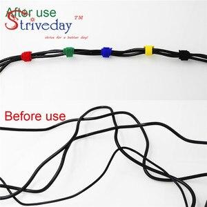 Image 5 - 100 pz 5 Colori possono scegliere di Magic tape cablaggio/nastri fascette/nylon del Legame del cavo Del Computer via cavo trasduttore auricolare del Cavo tie