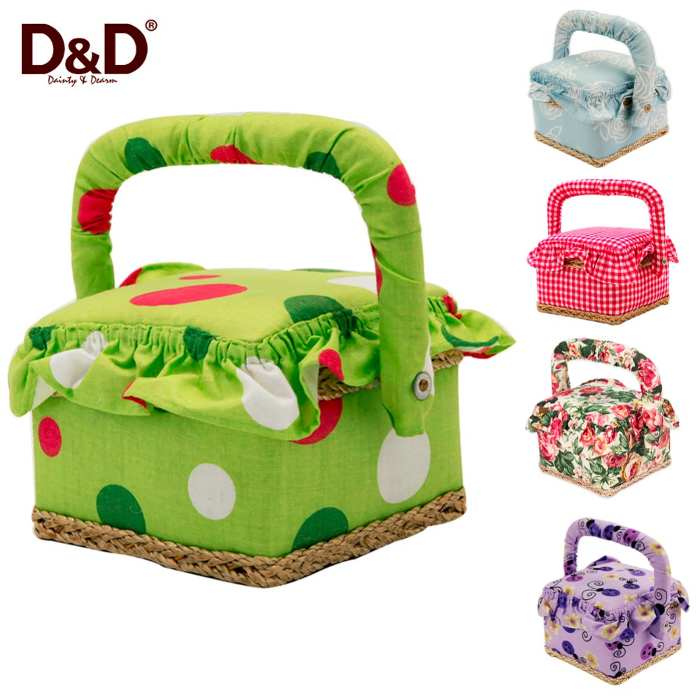 Handmade Sewing Basket : Aliexpress buy d fashion gift box vintage wooden