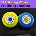 [92A Sliding Braking wheel] 8 Pcs/Lot Original ATS Inline Skates Wheel, For Sliding Braking Skating SEBA Patins Fire Stone Flint