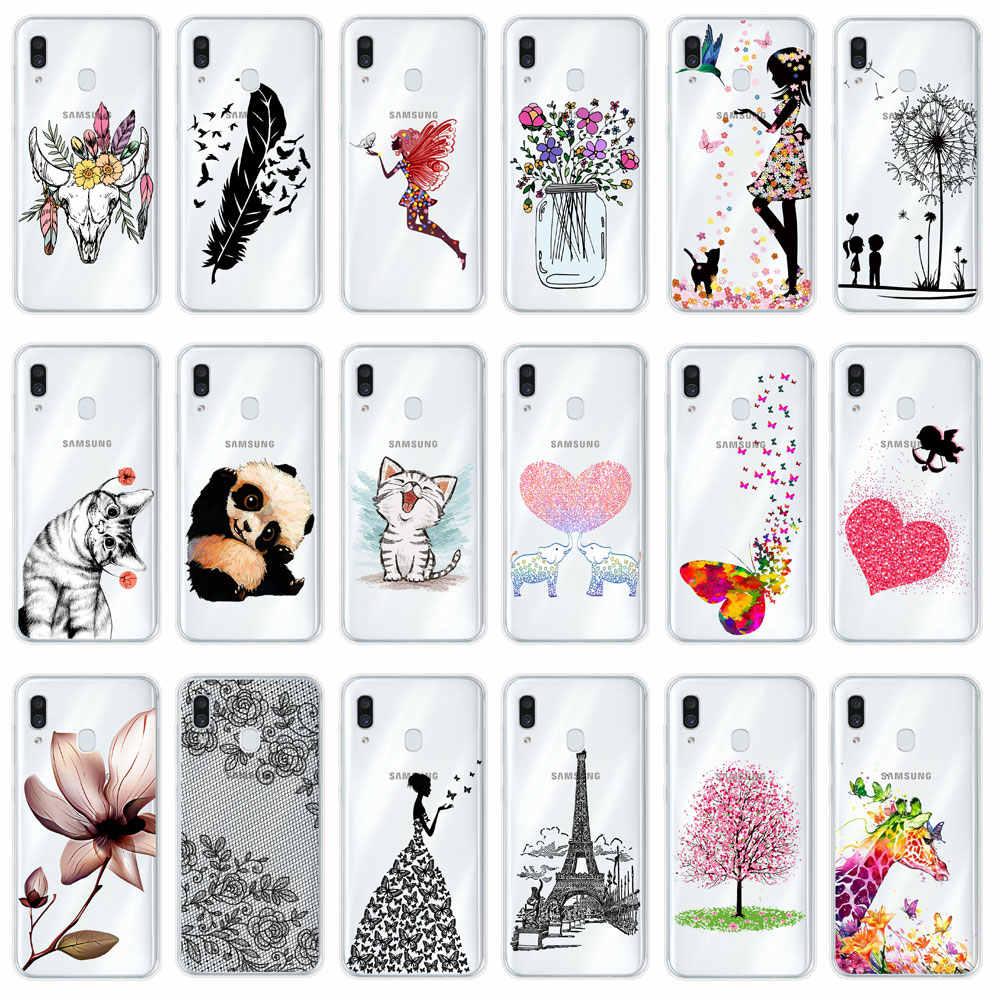 Untuk Samsung Galaxy A50 Kasus Penutup Silikon Lembut TPU Cover Case Telepon Untuk Samsung A50 50 2019 A505 A505F SM-A505F GalaxyA50