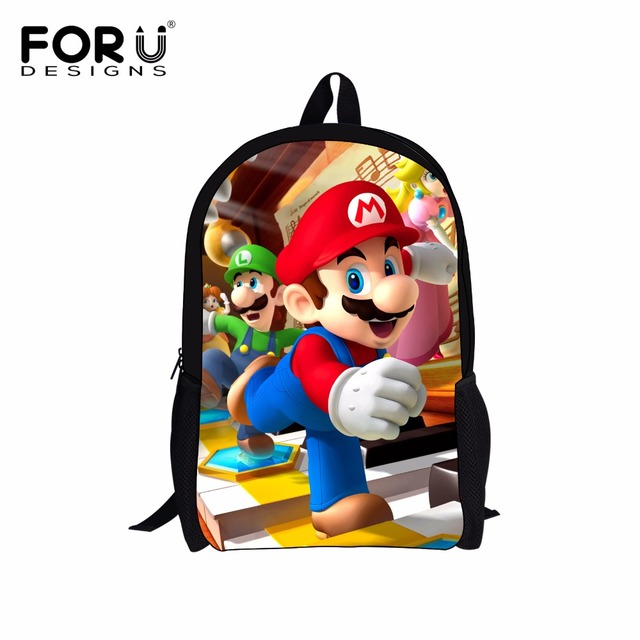 386f4720bfc FORUDESIGNS 2018 NEW Cartoon Children School Bags Funny Mario Printed Kids  Bags Student School Book Bags Backpack Boys Schoolbag