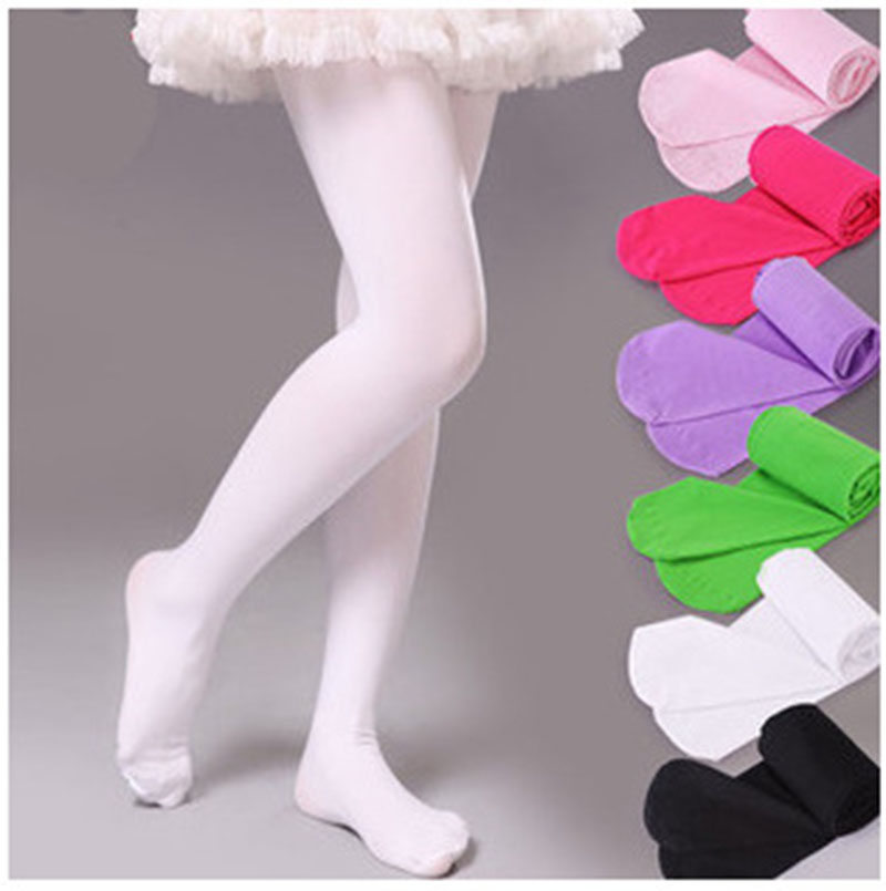 children pantyhose baby girls candy colors pantyhose kids cute pantyhose opaque dance tightschina - Collants Opaques Colors