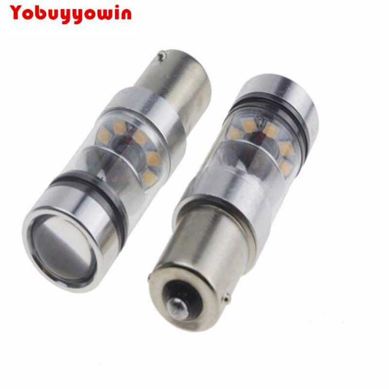 2Pcs/Lot Car <font><b>PY21W</b></font> 581 <font><b>BAU15s</b></font> AMBER CANBUS 100W CREE Chips <font><b>LED</b></font> FRONT INDICATOR CAR BULBS OFFSIDE Pins For Audi and European Cars