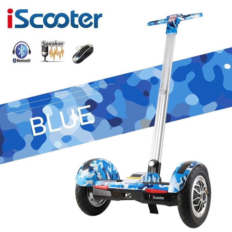 Hoverboard 10 pollice Scooter Elettrico di auto Bilanciamento del motorino Intelligente a due ruote di skateboard Con Maniglia Bluetooth Altoparlante Girscooter