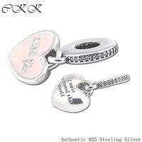 Fit Pandora Charms Bracelets Diy Beads Travel the World with you 100% 925 Sterling Silver Charm for Jewelry Making PF241