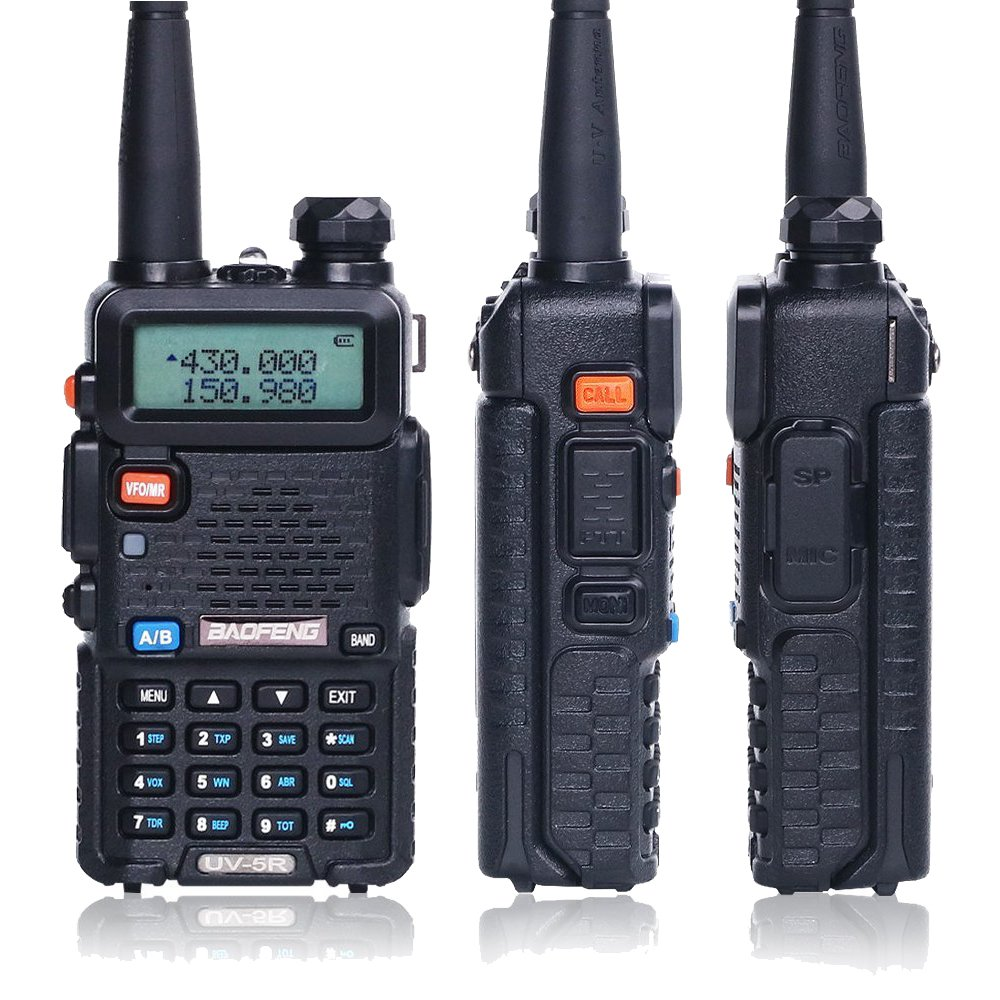 BaoFeng Walkie Talkie UV-5R Dual Band Two Way Radio with one more 1800mAh UV5R Battery one Car Charge one Hand MicBaoFeng Walkie Talkie UV-5R Dual Band Two Way Radio with one more 1800mAh UV5R Battery one Car Charge one Hand Mic