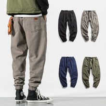 2018 winter bib overall men jogger pants warm high street casual pants cargo hip hop trousers teenage wool sweatpants brushed