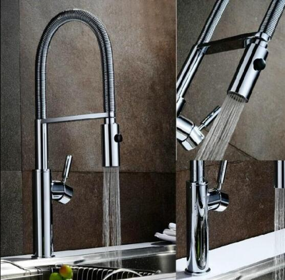 Kitchen Faucet Newly Design 360 Swivel Solid Brass Single Handle Mixer Sink Tap Chrome Hot and Cold Water Torneira free shipping becola new design kitchen faucet fashion unique styling brass chrome faucet swivel spout sink mixer tap b 0005