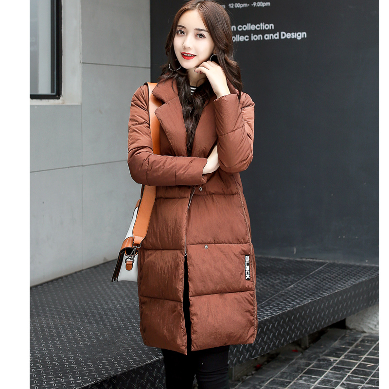 Fashion 2017 Down Jacket Coat Female Long Cotton Padded Thin Jackets for Women Winter Parka Spring