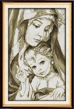 ФОТО joy sunday great virgin mary with her baby cross stitch pattern kits handcraft make embroidery with chart
