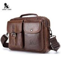 LAOSHIZI LUOSEN Натуральная кожа Мужская сумка на плечо винтажные мужские сумки-мессенджеры мужские деловые сумки через плечо Handtasche