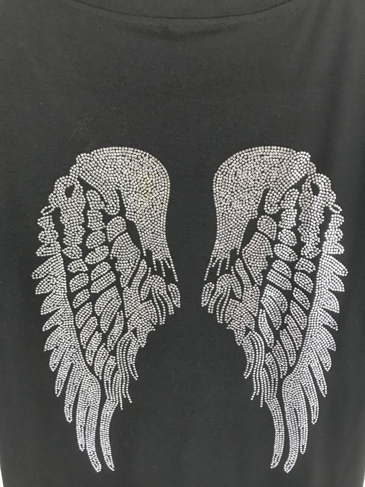 HTB1CXKxOpXXXXa3XVXXq6xXFXXXF - Punk Rock T shirt Women Wing Sequins Sequined T-shirt
