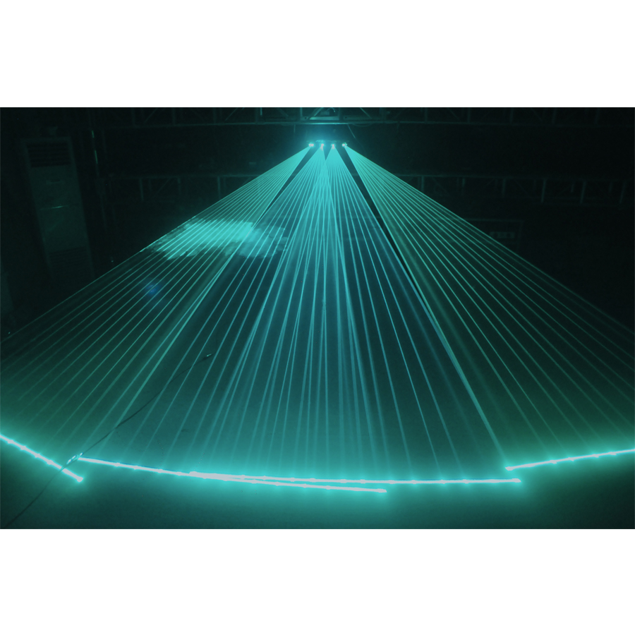 Image 2 - 900mW led laser stage lighting 4 head 4 tunnels principal white color fill in light 6 colors laser beam effects laser light-in Stage Lighting Effect from Lights & Lighting