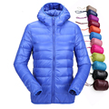 Winter Bomber Jacket Women Ultra Light Down Jacket Hooded Duck Jackets Slim Long Sleeve Parka Zipper Coats 2016 Pockets Solid