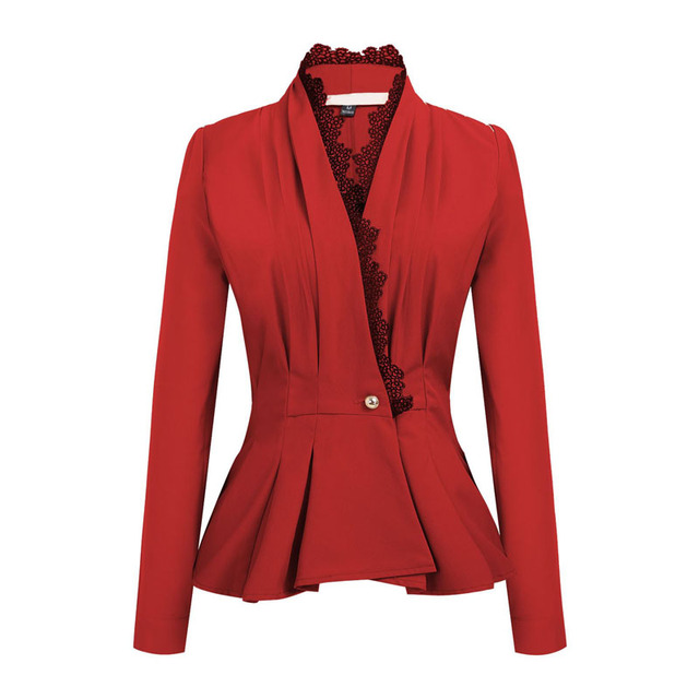 Women'S Blazers Lace Single...