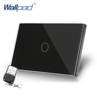 Remote Dimmer Wallpad US AU Standard Glass Switch AC 110 250V Black Dimmerable Wall Light Switches