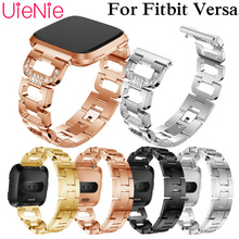 Link bracelet for fitbit Versa strap band Replacement belt Stainless steel smartwatch for fitbit Versa watch Accessories все цены